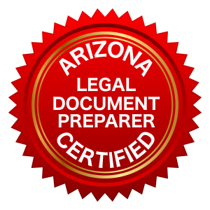 Arizona Certified Legal Document Preparer seal